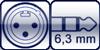 XLR male<br>Klinke 3p.