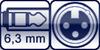 Klinkenbuchse 3p. 6,3mm<br>XLR 3p. female