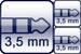 Mini-Klinke 3p.<br>2x Mini-Klinke 3p.