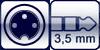 Kleintuchel 3p.<br>Klinke 3p. 3,5 mm