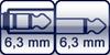 Klinkenbuchse<br>Klinke 2p. 6,3 mm