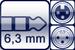 Klinke 3p. 6,3mm<br>XLR 3p. female/male