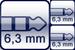 Klinke 3p. 6,3mm<br>2x Klinke 2p. 6,3mm