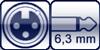 XLR 3p. female<br>Winkel-Kl. 2p. 6,3 mm