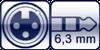 XLR 3p. female<br>Winkel-Kl. 3p. 6,3mm