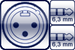 XLR 3p. male<br>2x Klinke 3p. 6,3mm