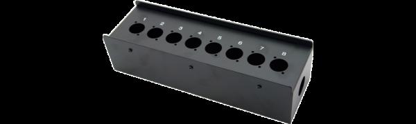 MTI Metall-Stagebox, 8 Bohrungen, Neutrik D-Serie
