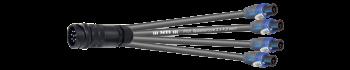 MTI LS-Breakout-Cable, 4x2x4,0 mm², PACOM 8p.male o.Ü., 4x Speakon 4p., 10,0 m