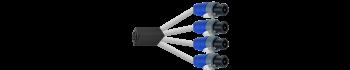 MTI Speakon-Adapter, 8p./4x 2p., 1,0 m