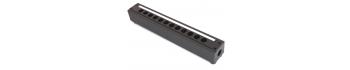 MTI Metall-Stagebox, 12 Bohrungen, Cutout D-Serie