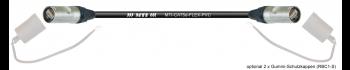 MTI CAT5e Ethernet-Kabel AWG26/7 PVC schwarz, 2x Neutrik Ethercon IP65