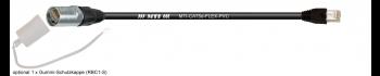 MTI CAT5e Ethernet-Kabel AWG26/7,schwarz, Neutrik Ethercon/RJ45