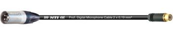 MTI Digital Audio-Adapter, XLR-male 3p./Cinch-Bu., 0,2 m