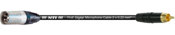 MTI Digital Audio-Adapter, XLR-male 3p./Cinch-gold, 0,2 m
