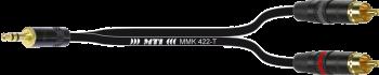 Breakout-Cable, Mini-Kl. 3p./2x Cinch gold