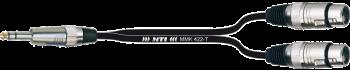 Breakout-Cable, Klinke 3p./ 2x XLR-fem.