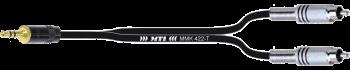 Breakout-Cable, Mini-Kl. 3p./2x Cinch
