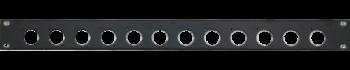 MTI Patch-Panel, 12 Bohrungen - D-Serie