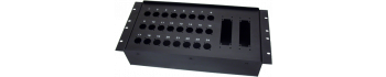 MTI Metall-Stagebox 19'', 24 Bohrungen, Neutrik D-Serie