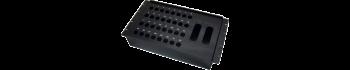 MTI Metall-Stagebox 19'', 32 Bohrungen, Neutrik D-Serie